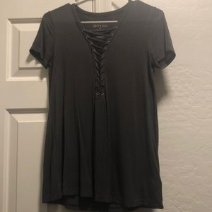 American Eagle Soft and Sexy Tee With Tied Front